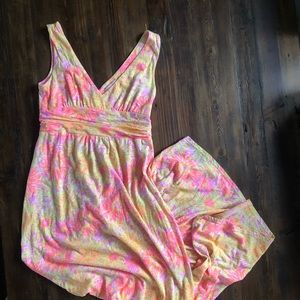 Lilly Pulitzer Maxi sundress neon floral print